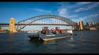 Demonstrating flotation: Case IH Magnum and Steiger tractors in Sydney