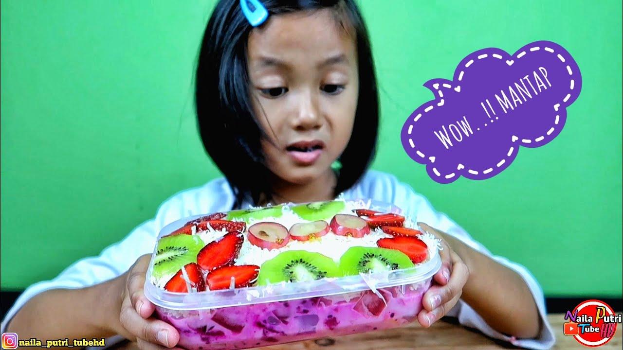 Cara buat salad buah enak ala NAILA dan MAMAH