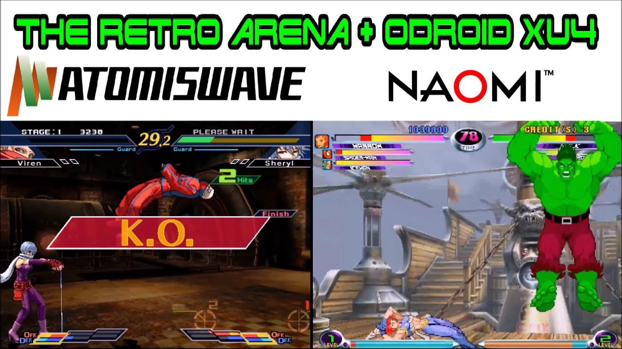 Odroid Xu4 : How to play Naomi & Atomiswave games with V1 5 2 Retro Arena  port of Retropie