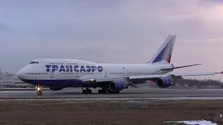 Transaero Airlines Boeing 747-412 Takeoff