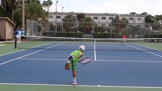 Super Talented 7 year old tennis prodigy