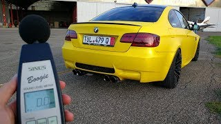 How loud my armytrix bmw m3 is? - decibel test (sub eng)