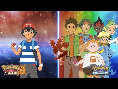 Pokemon Sun and Moon: Ash Vs Gladion Vs Brock, Tracey Sketchit, Cilan, Clemont, kiawe, Sophocles