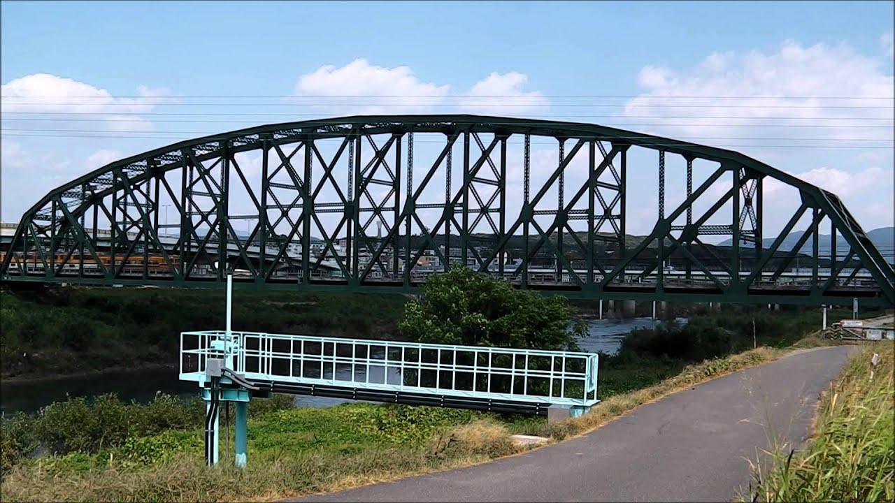 京都の宇治川に架かる近鉄澱川橋梁 (2011.10.7) - YouTube