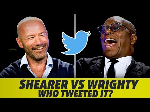 Alan Shearer V Ian Wright Twitter Challenge
