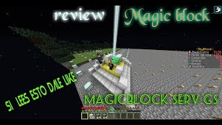 review server skyblock MAGIC BLOCK lo mejor