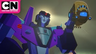 Transformers Cyberverse | Bumblebee and Windblade Run into a Trap | Cartoon Network