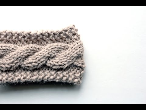 FREE Friendship Cable Headband Knitting Pattern Video