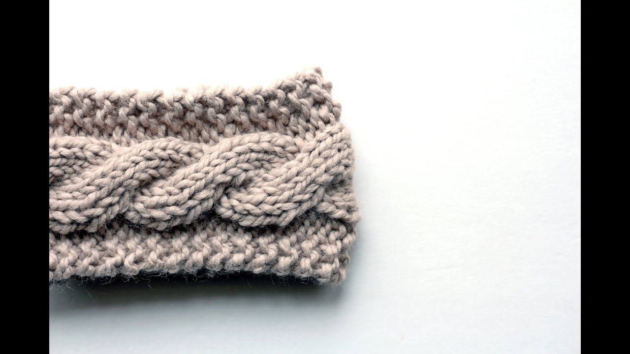 FREE Friendship Cable Headband Knitting Pattern Video - YouTube