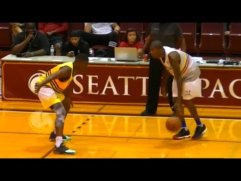 Jamal Crawford Takes on His Son in Pro-Am Game