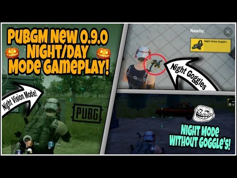 Pubg Mobile 0.9.0 UPDATE | New NIGHT MODE Gameplay With NIGHT VISION GOGGLE'S | EXTREME Graphics!