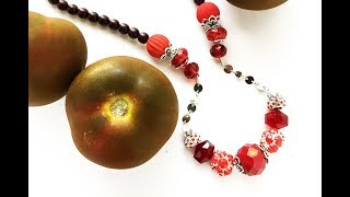 How-To Jewelry Making: Red Nosed-Necklace