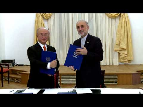 RAW: Iran, IAEA sign roadmap to clarify military dimensions of Iran's nuclear program
