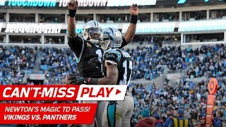 Cam Newton's Magic Trick to Avoid Sack & TD Pass to Devin Funchess! | Can't-Miss Play | NFL Wk 14