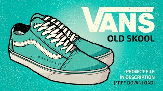 Speed Art | Old Skool Vans Illustration