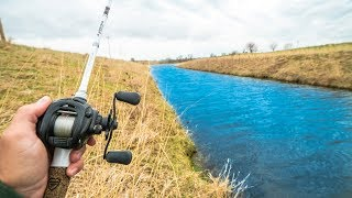 ROADSIDE CANAL Fishing!!! (Pond Hopping Challenge)