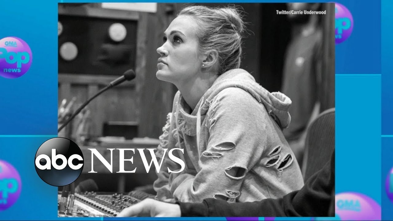 Carrie Underwood shares first photo showing face since fall that required stitches