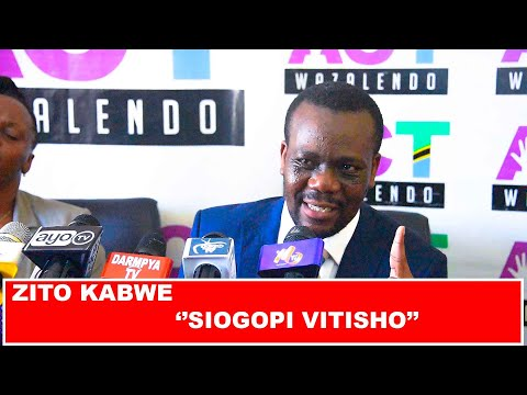 LIVE: ZITO KABWE AFUNGUKA  ''SIOGOPI VITISHO'' NAUTAKA URAIS
