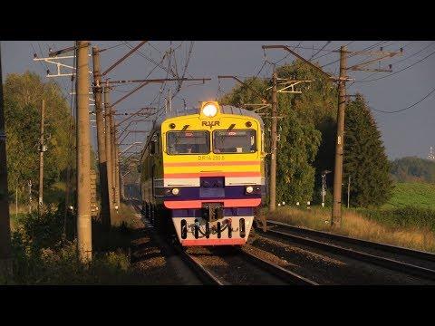 [ЛДз] Дизель-поезд ДР1А-290 на о.п. Саулкалне / [LDz] DR1A-290 DMU at Saulkalne stop