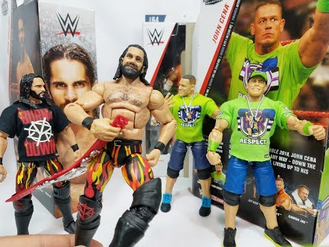WWE ELITE 64 SETH ROLLINS & JOHN CENA FIGURE REVIEW