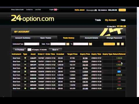24 options live trading