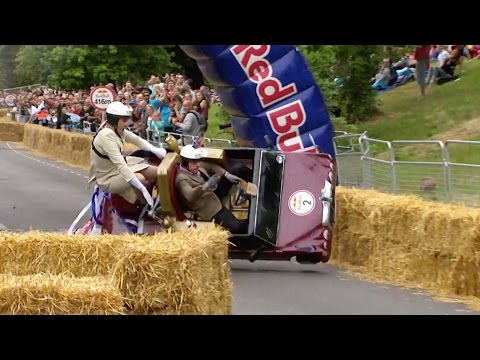 Best Crashes from Red Bull Soapbox Race London 2015