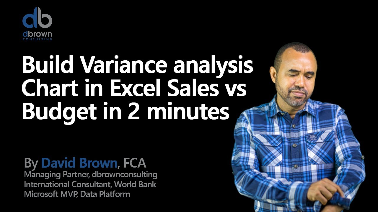 Excel tutorial: Build Variance analysis Chart in Excel Sales vs Budget in 2  minutes