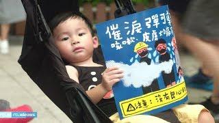 Ook kinderen doen mee aan demonstraties Hongkong