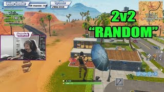 we did a 2vs2 tournament against squad random people FORTNITE