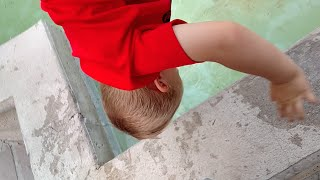 😮DAD ALMOST DROPS TODDLER IN WATER FOUNTAIN⛲! THE GARDENS🌷 | FAMILY ADVENTURE | DYCHES FAM