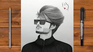 boy draw sketch drawing easy face way beginners
