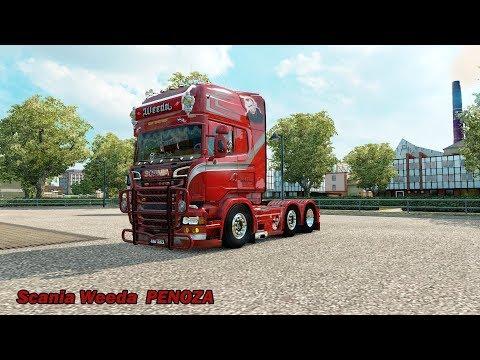 Euro Truck Simulator 2 # Scania weeda PENOZA (แต่งรถกันเถอะ # 37 )