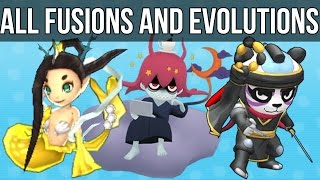 Yo-Kai Watch 2 - All Fusions and Evolutions