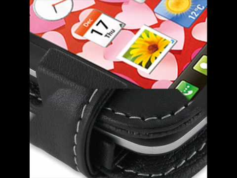 PDair Leather Case for LG Cookie Plus GS500v - Flip Type (Black)