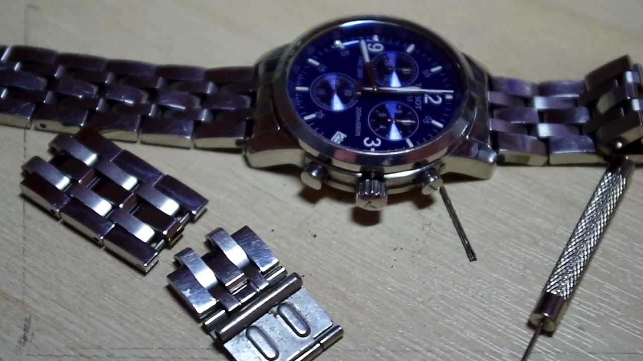 d1cc59fb696 Tissot PRC200 watch strap adjustment - YouTube