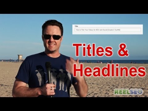 ★ How to OPTIMIZE your YouTube TITLES - Video Metadata