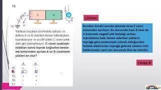 Fizik 9 Elektrostatik ünitesi Soru çözümleri 2