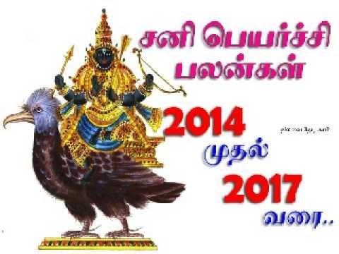 sani peyarchi palangal 2014 to 2017 Mesha rasi