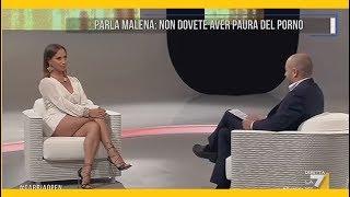 Malati di Pornografia - Parla Malena (attrice Hard) a LaGabbiaOpen su La7