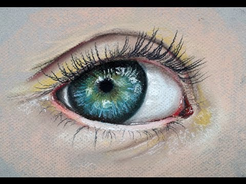 how to draw a realistic eye with pastels youtube