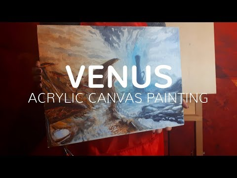 Warframe: Venus - Acrylic on Canvas Painting Time-lapse thumbnail
