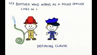 Non-defining vs defining relative clauses