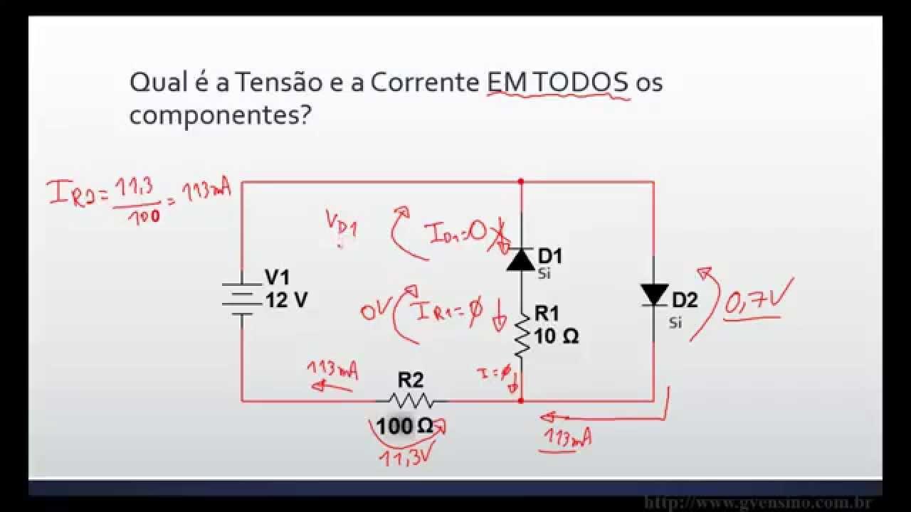 Circuito Cc : Aula ainda mais circuitos cc com diodos youtube