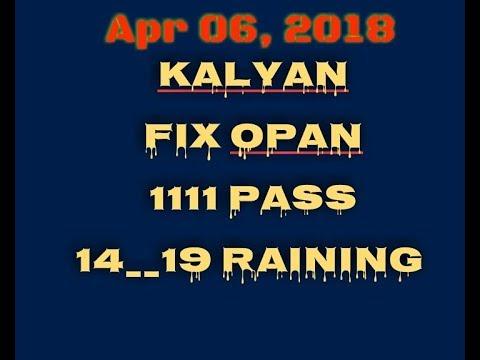 06/04/2018  KALYAN FIX GAME TODAY  KALYAN ME FIX JODI TODAY  KALYAN ME OPAN  TO CLOSE  MUMBAI ME FIX by KALYAN MARKET