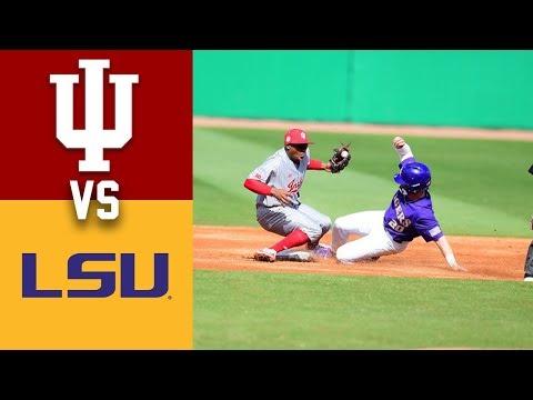Indiana Vs #12 LSU Highlights Game 1 2020 College Baseball 2152020