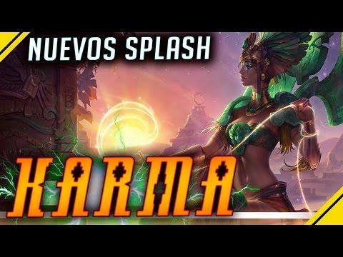 KARMA - Nuevos SPLASH ART | Noticias League Of Legends LOL