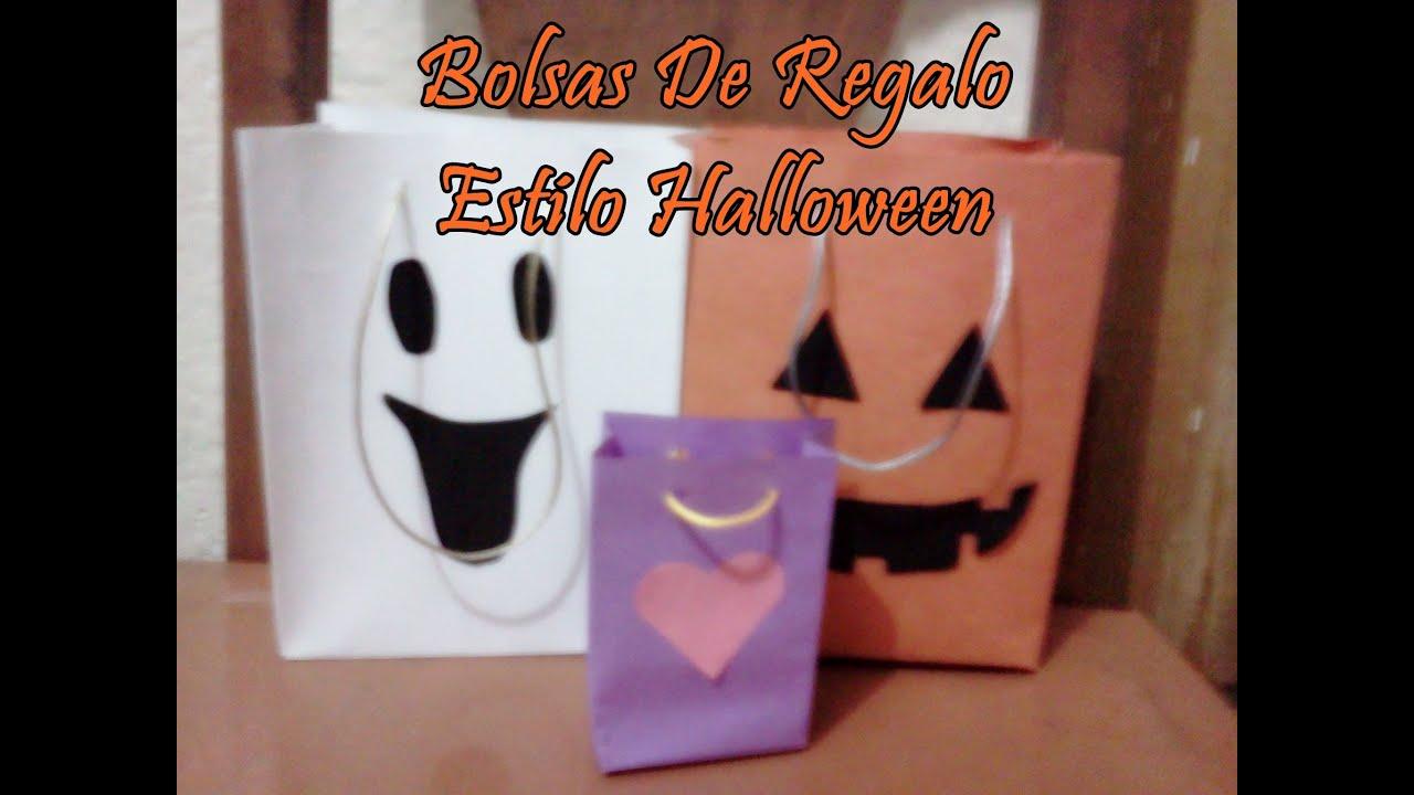 Como hacer bolsas de regalo estilo halloween youtube - Como decorar bolsas de papel ...