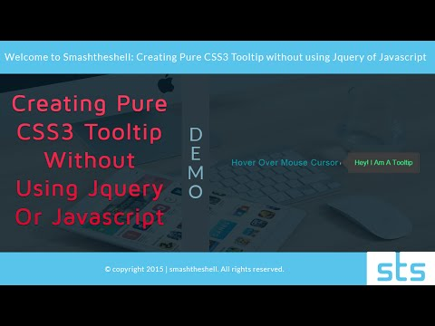 How to Create Pure CSS Tooltip Without Using jQuery or Javascript