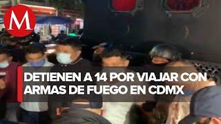 En CdMx, interceptan convoy de autos con hombres armados; hay 14 detenidos