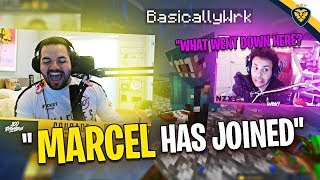 MARCEL JOINED THE HUNTING?! THE BEST SURPRISE EVER! (Minecraft)